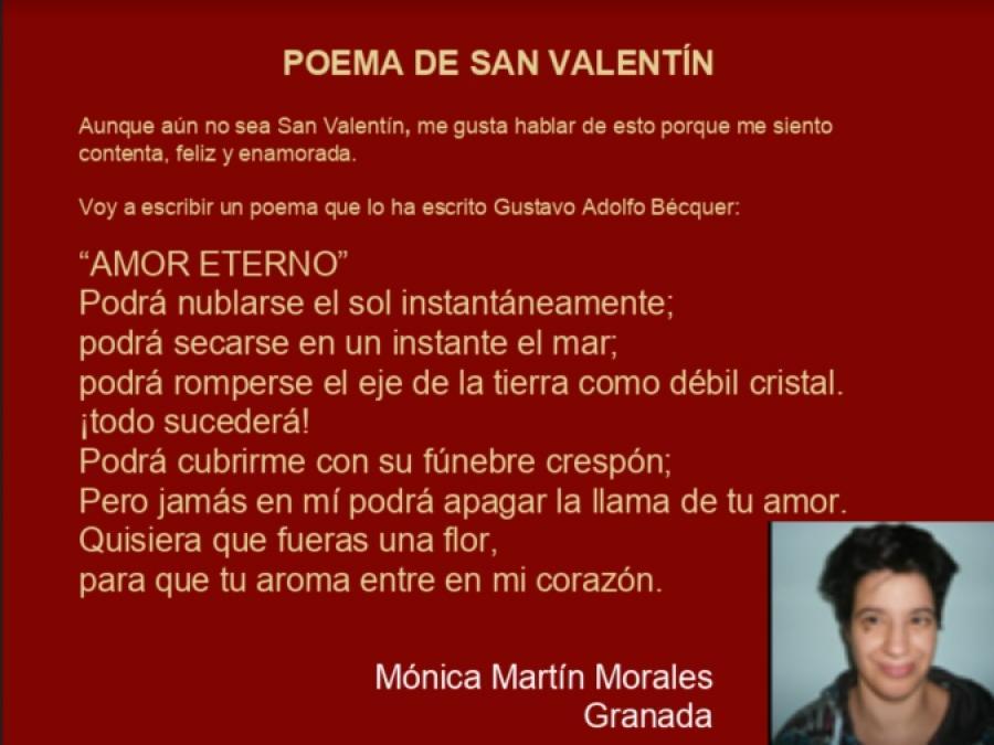 Poema De San Valentín De Mónica Martín Morales En